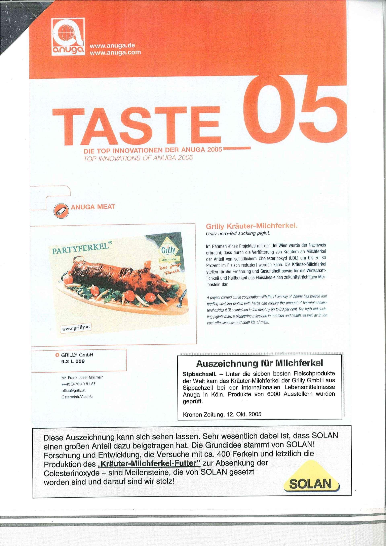 Anuga Innovationspreis Taste05